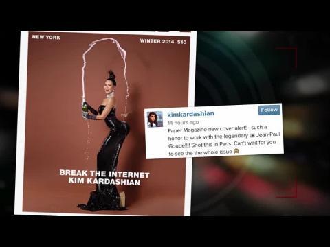 Kim Kardashian montre ses fesses sur Paper Magazine