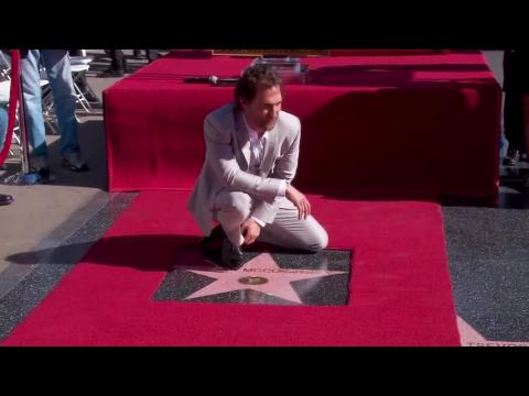 Matthew McConaughey reçoit son étoile sur l'Hollywood Walk of Fame