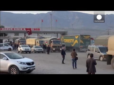 Arrivée en Turquie des renforts kurdes irakiens pour Kobané