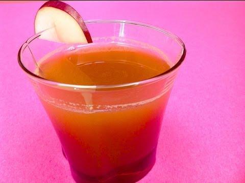 jus de pomme et betterave (extrait à la centrifugeuse) (hd) sur