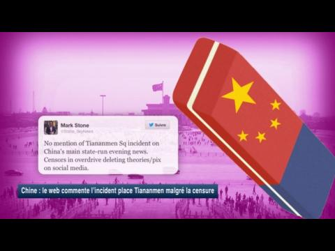 Chine : le web commente l'incident place Tiananmen malgré la censure