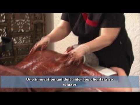 Un massage au chocolat (sans calories)