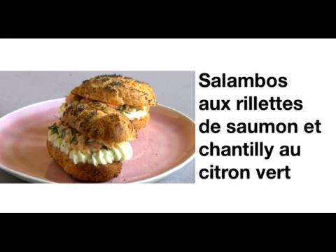 Salambos rillettes saumon citron vert