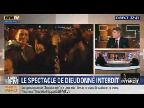 Le Soir BFM: Le spectacle de Dieudonné est interdit - 09/01 1/2