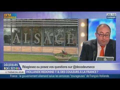 Hollande redonne-t-il des couleurs à la France ? dans Les Décodeurs de l'éco - 15/01 4/5