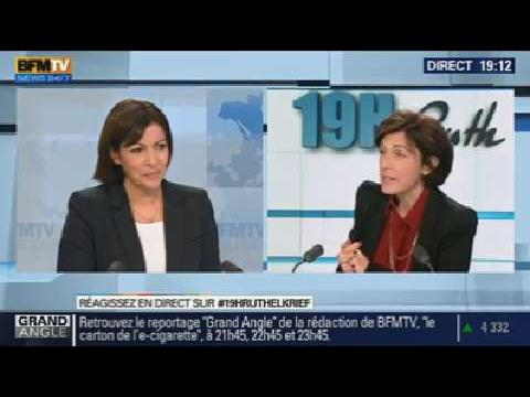 Anne Hidalgo: l'invitée de Ruth Elkrief - 15/01