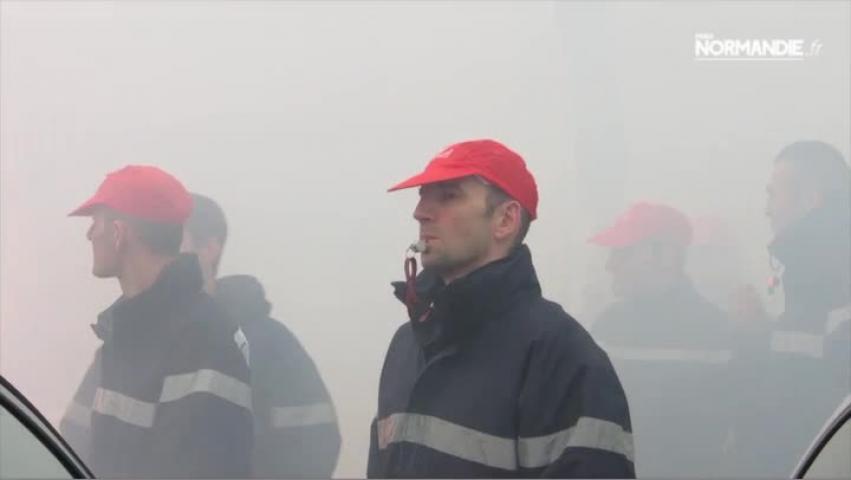 Manifestation des pompiers dans l'Eure