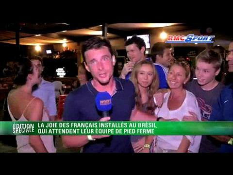 Les supporters français fêtent aussi la qualif au Brésil - 19/11