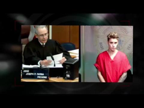 Justin Bieber fait face au juge au tribunal