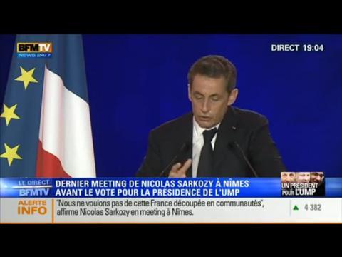 Le dernier meeting de Nicolas Sarkozy à Nîmes (2/4) - 27/11