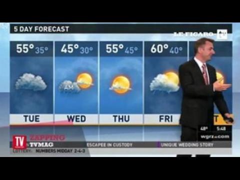 Le fou rire interminable d'un présentateur météo