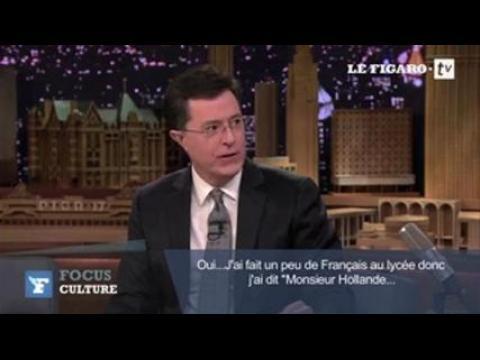"""Stephen Colbert : """"J'ai complètement entubé le président français"""""""