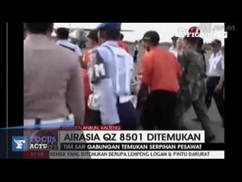 Crash AirAsia : des débris de l'appareil repêchés
