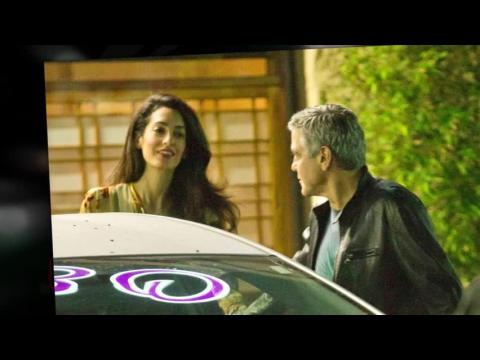 George et Amal Clooney passent une soirée calme à Studio City