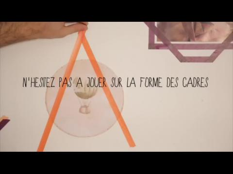 Video une d coration murale en masking tape sur orange - Masking tape deco murale ...
