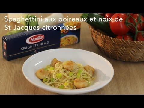 Spaghettini aux poireaux et noix de st jacques citronn es - Noix de st jacques sur lit de poireaux ...