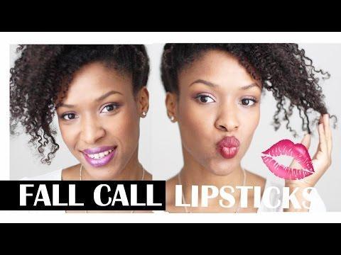Mes lèvres d'Automne - Favourite Fall Lipsticks