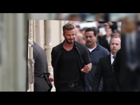 David Beckham arrive au studio de Jimmy Kimmel