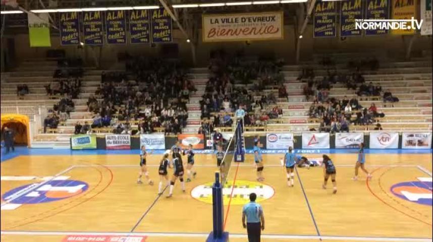 Volley-ball - Elite féminine : Evreux a encore plié au cinquième set