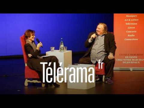 Rencontre Télérama : Gérard Depardieu, interviewé au Théâtre du Rond Point