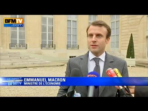 """Macron: """"la responsabilité du patronat est de mener des accords de branche"""""""