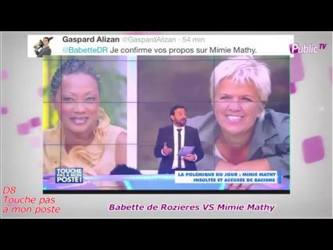 """Public Zap: Babette de Rozières VS Mimie Mathy : """"Cette histoire pue"""" d'après les chroniqueurs de TPMP !"""