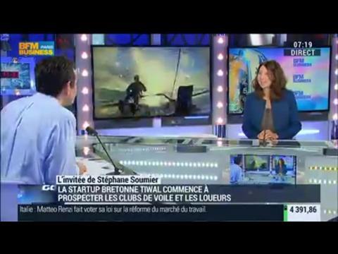 Les dériveurs à structures gonflables de Tiwal se vendent dans le monde: Marion Excoffon - 04/12