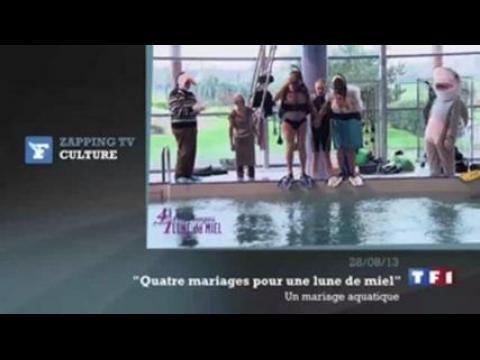 zapping tv le mariage dans la piscine ne se passe comme pr vu sur orange vid os. Black Bedroom Furniture Sets. Home Design Ideas