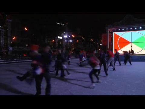 Féerie de Noël à Moscou malgré la crise
