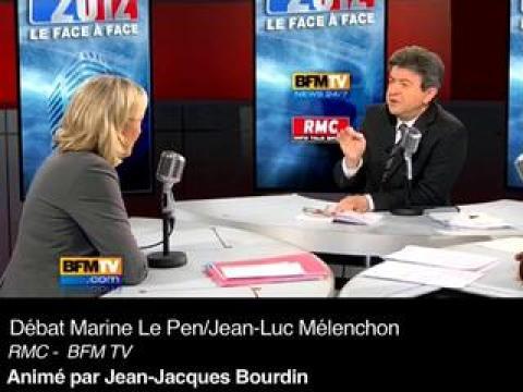 Zapping des matinales du 14 février 2011: Marine Le Pen / Jean-Luc Mélenchon