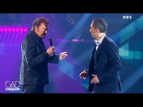 Johnny Hallyday donne une leçon à Gad Elmaleh - ZAPPING PEOPLE DU 18/05/2015