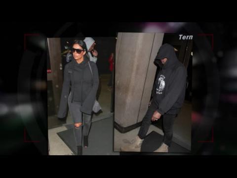 Kim Kardashian et Kanye West s'envolent pour le dîner Power Woman