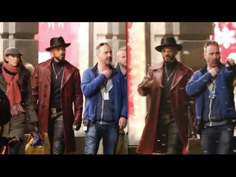 Will Smith sur le plateau de Suicide Squad à Toronto