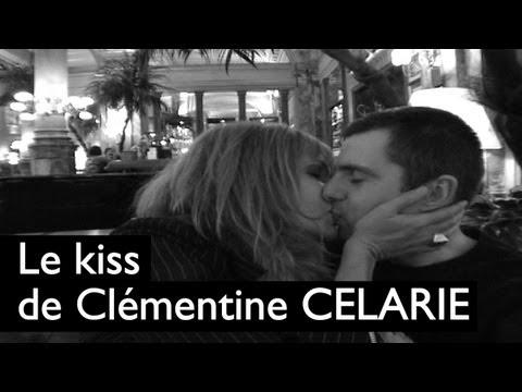 Le baiser de Clémentine Célarié à Mister emma