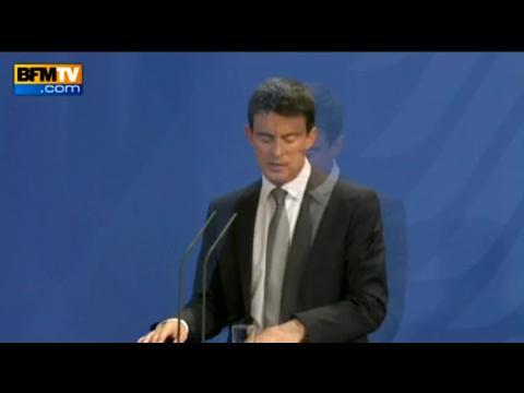 """Valls à Berlin: """"les réformes nous allons les faire"""""""