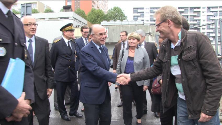 Le ministre de l'Intérieur sur les Hauts de Rouen