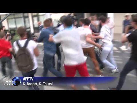 """Taubira à la réunion des """"frondeurs"""" PS à La Rochelle"""
