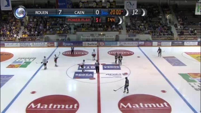 Hockey : Résumé du match Des Dragons de Rouen contre les Drakkars de Caen