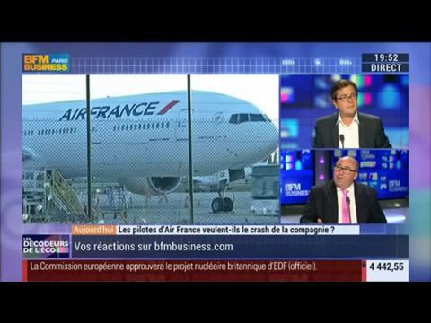 Les pilotes d'Air France veulent-ils le crash de la compagnie ?, dans Les Décodeurs de l'éco - 22/09 2/4