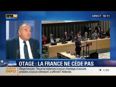 """BFM Story: Otage français en Algérie: François Hollande ne cédera """"à aucun chantage"""" - 23/09"""
