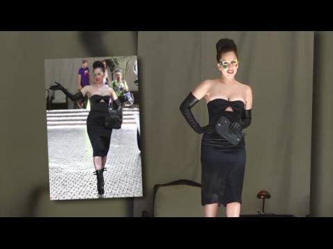 Lady Gaga risque un problème vestimentaire dans une robe ultra moulante