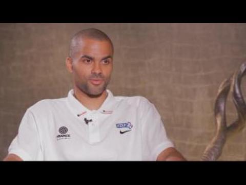Tony Parker, meneur de jeu de l'équipe de France de basket