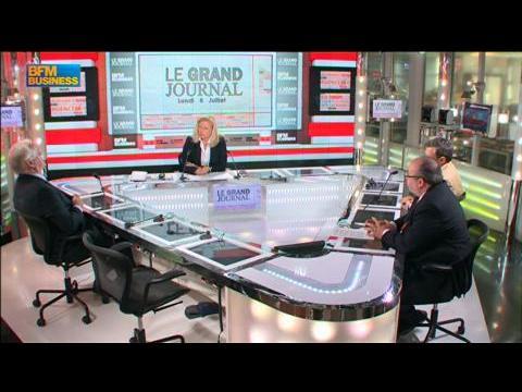 Jean-Claude Volot, Medef et Stéphane Rozès dans Le Grand Journal - 28 juillet 3/4