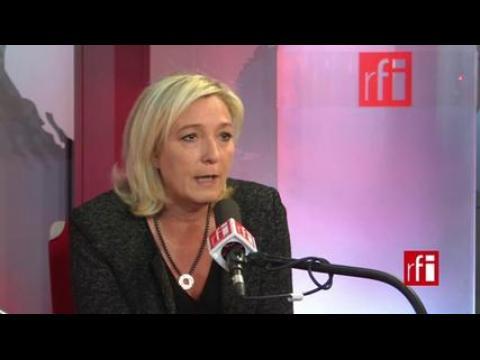 Marine Le Pen : « On est toujours inquiet. L'Ukraine est un pays ami... »