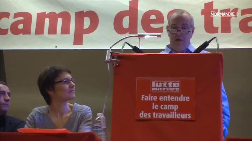 Nathalie Arthaud présente les têtes de liste de Force Ouvrière