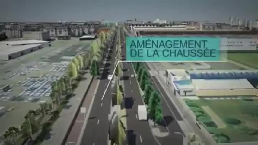 La futur entrée de la ville du Havre en 3D