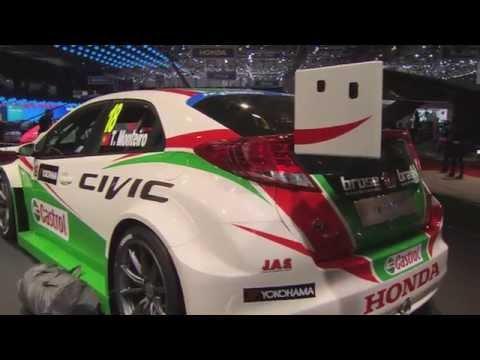 Honda Civic WTCC car at Geneva Auto Show 2014 | AutoMotoTV