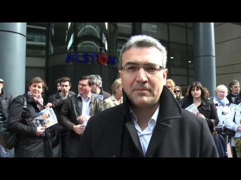 Alstom: manifestation du FN devant le siège social