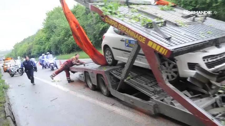 Accident sur l'A150
