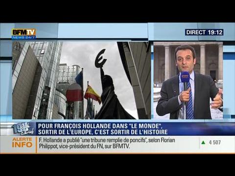 19H Ruth Elkrief: Florian Philippot réagit à la tribune de François Hollande – 08/05